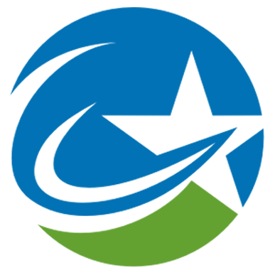 Carbon Fiber Star Sticky Logo